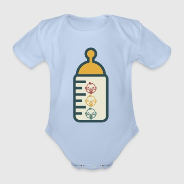 Baby Bottle - Organic Short-sleeved Baby Bodysuit