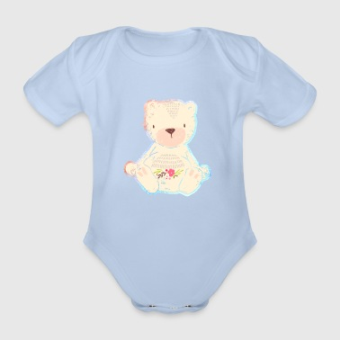 "Baby-Shirt ""Bear"" - Organic Short-sleeved Baby Bodysuit"