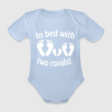 In bed with two royals, Royal Baby, Royal Body - Organic Short-sleeved Baby Bodysuit