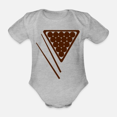 Cue Snooker Rack and Cues - Organic Short-Sleeved Baby Bodysuit