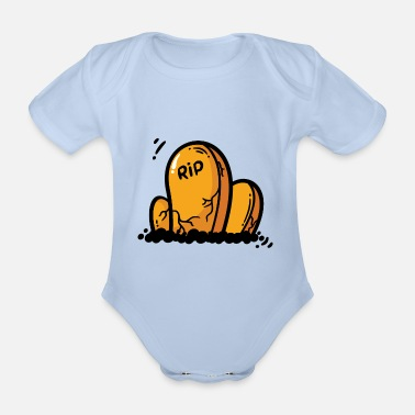Grave Grave Graves Cemetery Halloween October Gift - Organic Short-Sleeved Baby Bodysuit