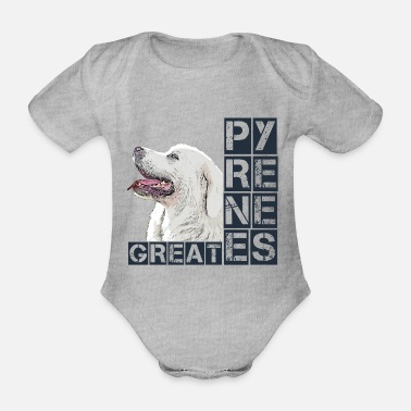 Pyrenees Great Pyrenees Pyrenees mountain dog dog dog - Organic Short-Sleeved Baby Bodysuit