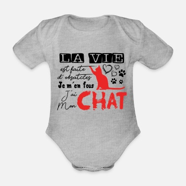 Quat Cat Shirt · Domestic Cat · Quat Gifts - Organic Short-Sleeved Baby Bodysuit