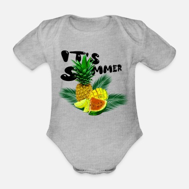 Its Summer Fruits - fruity gift idea - Organic Short-Sleeved Baby Bodysuit