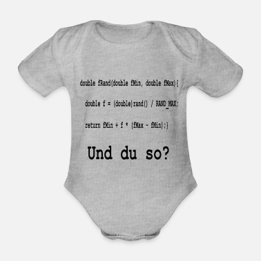 Program Programming / coding and you like that? - Organic Short-Sleeved Baby Bodysuit