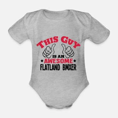Wheel this guy is an awesome flatland bmxer 2c - Organic Short-Sleeved Baby Bodysuit