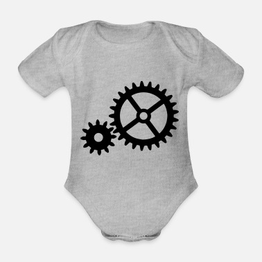 Gear gears - Organic Short-Sleeved Baby Bodysuit