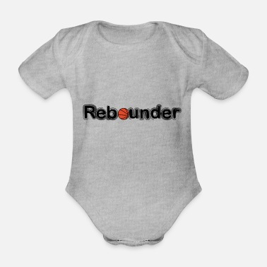 Rebound Rebounder, basketball - Organic Short-Sleeved Baby Bodysuit
