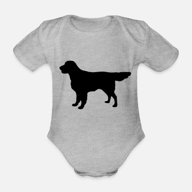 Flatcoat Retriever Dog - Body Bébé bio manches courtes