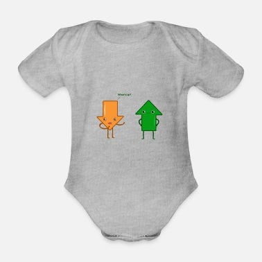 Whats Up Whats up - How are you? - Organic Short-sleeved Baby Bodysuit