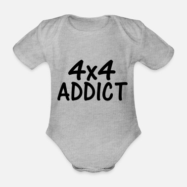 4x4 4x4 addict - Organic Short-Sleeved Baby Bodysuit