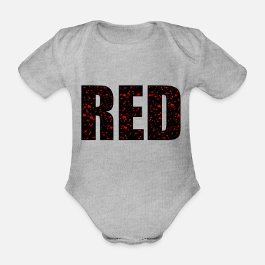 Red Red - Organic Short-Sleeved Baby Bodysuit