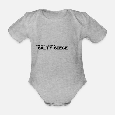 Sieg salty Siege Black - Organic Short-Sleeved Baby Bodysuit