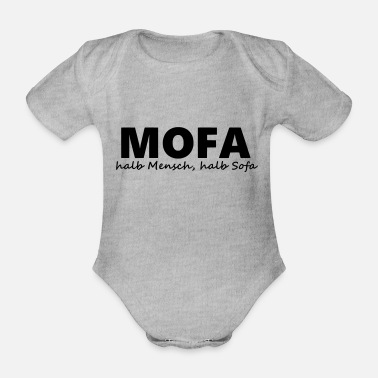50 Cm³ Moped - half human, half sofa - Organic Short-Sleeved Baby Bodysuit