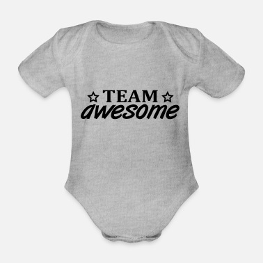 Disco team_awesome_f1 - Organic Short-Sleeved Baby Bodysuit