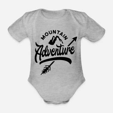 Mountains Mountain Mountaineering Mountaineering Mountains Mountains - Organic Short-Sleeved Baby Bodysuit