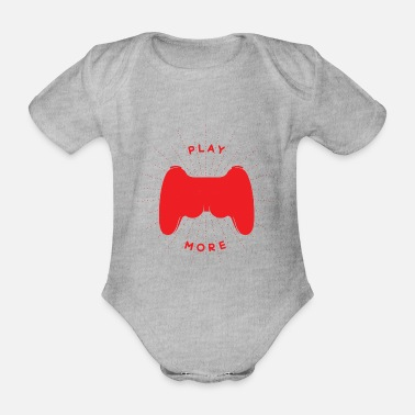 Console Gamer console - Organic Short-Sleeved Baby Bodysuit