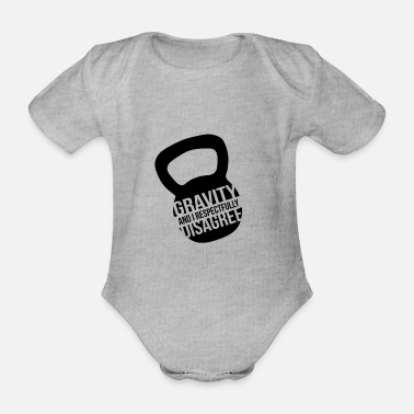 Kettlebell Kettlebell Kettleball Ball Dumbbell Fitness Gift - Organic Short-sleeved Baby Bodysuit