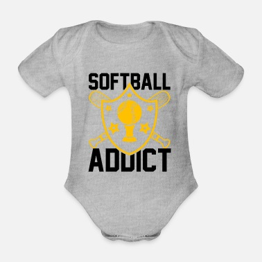 Softball Softball Player Coach Fan Funny Quotes - Baby Bio Kurzarmbody