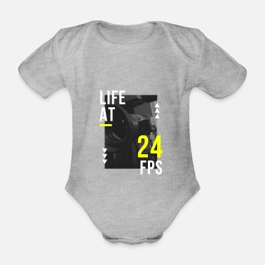Fps life at 24 fps - Organic Short-Sleeved Baby Bodysuit