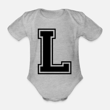 L l - Organic Short-Sleeved Baby Bodysuit