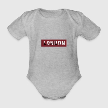 London design motif UK - Organic Short-sleeved Baby Bodysuit