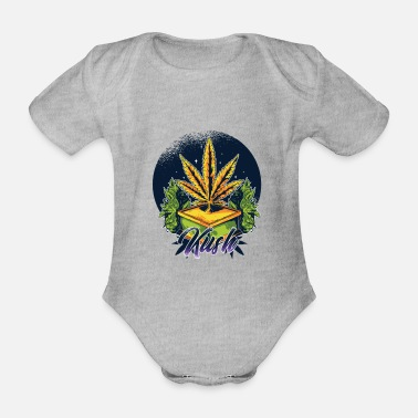 Kush Idea regalo di Hemp Kush Design - Body neonato a manica corta