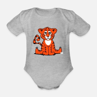 Cub Tiger cub - Organic Short-Sleeved Baby Bodysuit