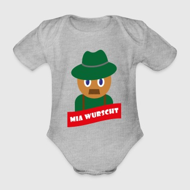 Lustiger Comic Mir Egal Tiroler Illustration - Baby Bio-Kurzarm-Body