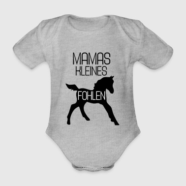 Mama's little foal - Organic Short-sleeved Baby Bodysuit