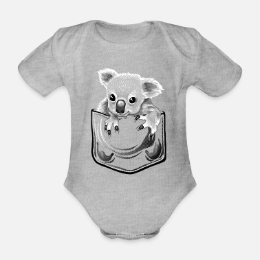 Baby koala in pocket - Baby Bio Kurzarmbody