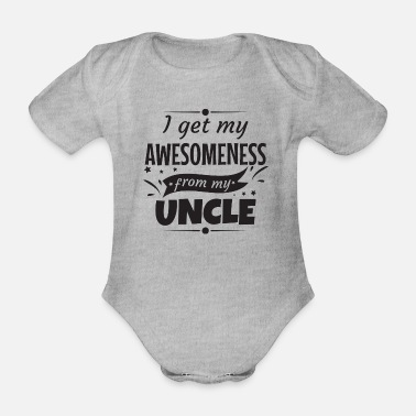 Uncle Awesomeness Uncle Uncle Godfather gift - Organic Short-Sleeved Baby Bodysuit