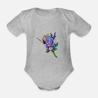 Snooze Snoozing princess - Organic Short-sleeved Baby Bodysuit