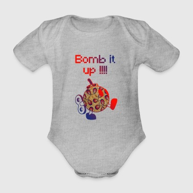 Bomb It Up: Red Power !!! - Organic Short-sleeved Baby Bodysuit