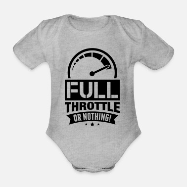 Fast full_throttle_or_nothing_di1 - Organic Short-Sleeved Baby Bodysuit