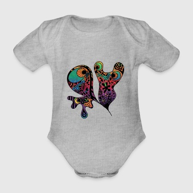 Ghusos colorful - Organic Short-sleeved Baby Bodysuit