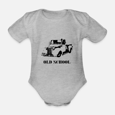 Old school car - Organic Short-Sleeved Baby Bodysuit