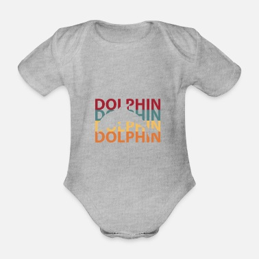 Dolphin Dolphin dolphins - Organic Short-Sleeved Baby Bodysuit