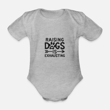 Exhausting Dog gift idea - Organic Short-sleeved Baby Bodysuit