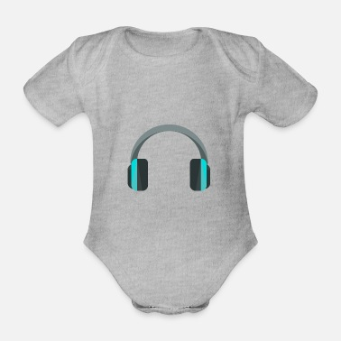 Headphones Headphones headphones - Organic Short-Sleeved Baby Bodysuit