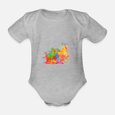 Western Riding Riding western riding - Organic Short-Sleeved Baby Bodysuit