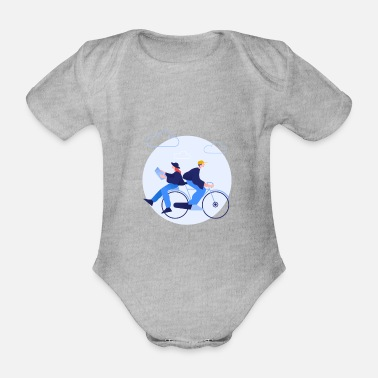 Comic Clip - Spending time together - Organic Short-Sleeved Baby Bodysuit