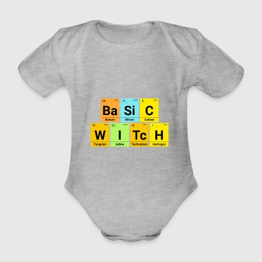 Simple Witch Basic Witch Halloween Periodiek systeem - Baby bio-rompertje met korte mouwen