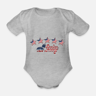 Independence day - Organic Short-Sleeved Baby Bodysuit