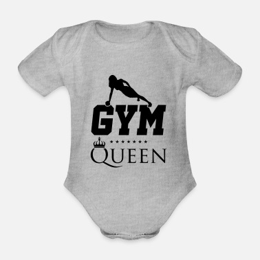Sayings Fitness queen - Organic Short-sleeved Baby Bodysuit