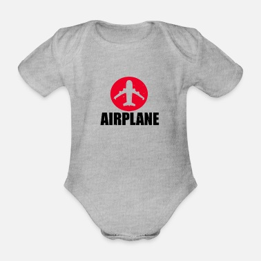 Airplane Airplane Airplane - Organic Short-Sleeved Baby Bodysuit
