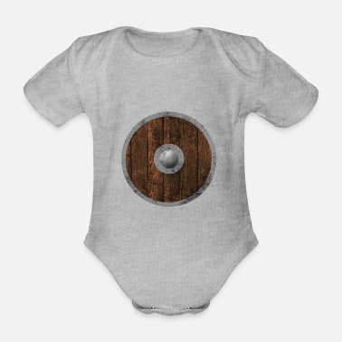 Holzschild Middle age wood sign - Organic Short-Sleeved Baby Bodysuit