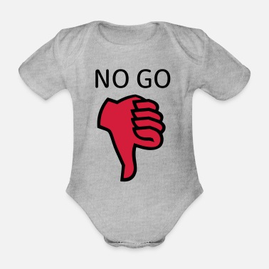 Date-rendez-vous No go - Organic Short-Sleeved Baby Bodysuit