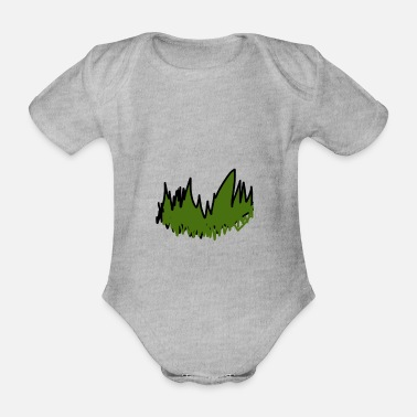 Grass grass - Organic Short-Sleeved Baby Bodysuit