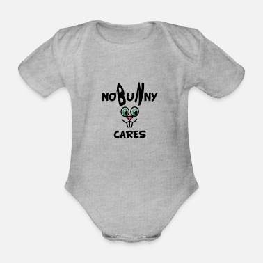 Wordplay nobunny cares nobody rabbit cute kawaii wordplay - Baby Bio Kurzarmbody